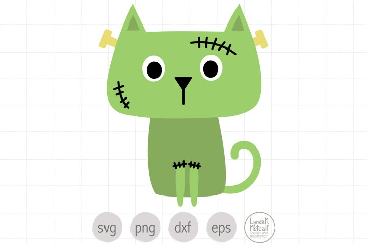 Frankenstein Cat SVG and Clipart for Halloween