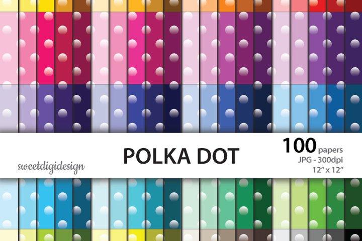 Ombre polka dots digital paper
