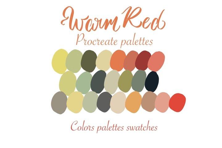 Warm Red Procreate palette color