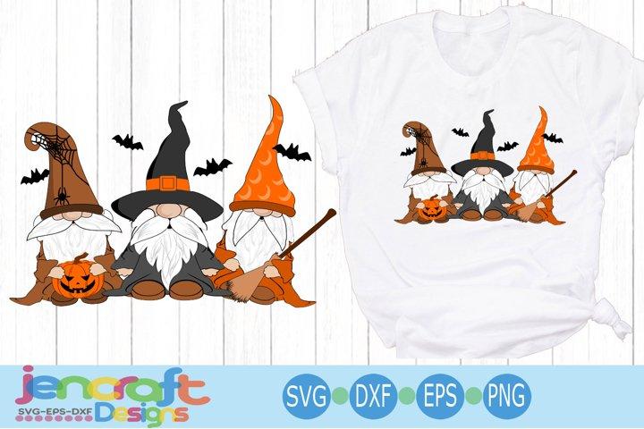 Halloween Gnome Trio SVG cut file