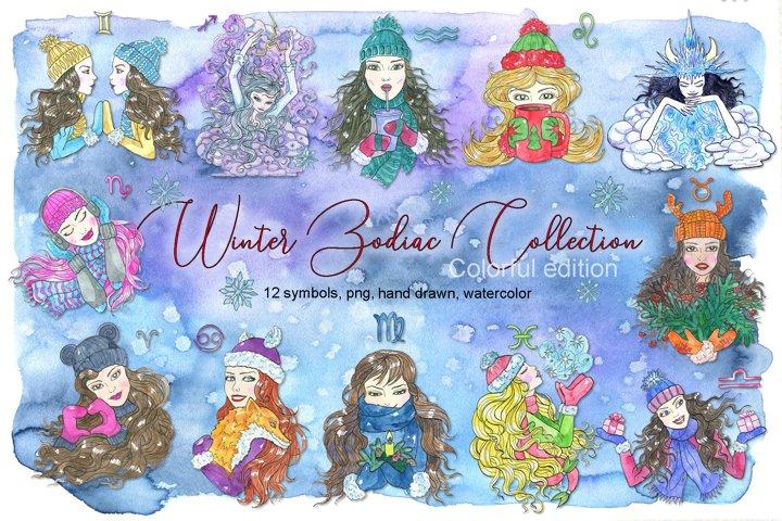 Winter Zodiac set, colorful edition