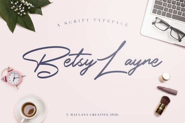 Betsy Layne - Handwritten Signature Handmade Font