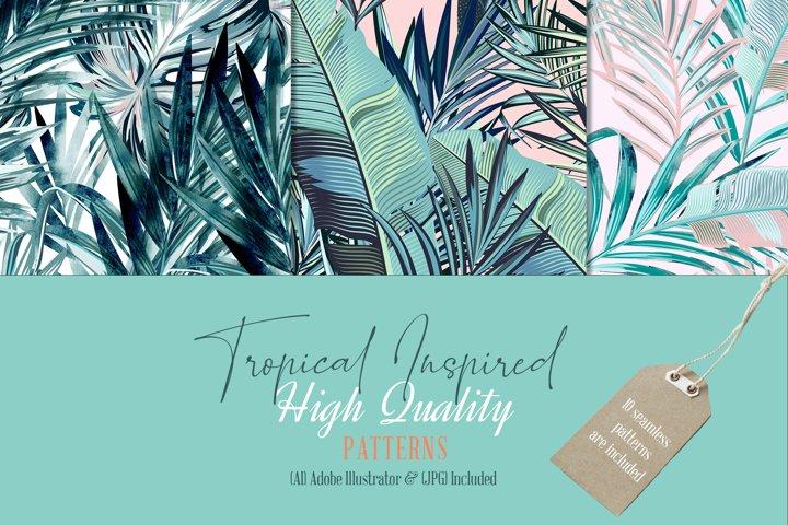 Rainforest vector tropical bundle