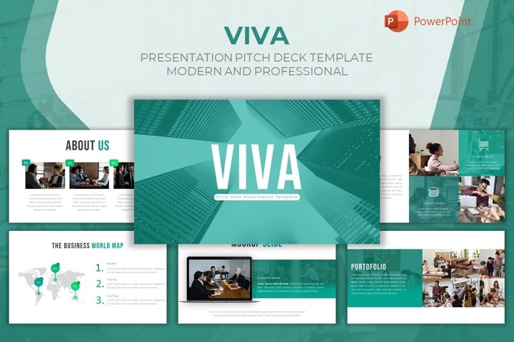 Pitch Deck Powerpoint Template - Viva
