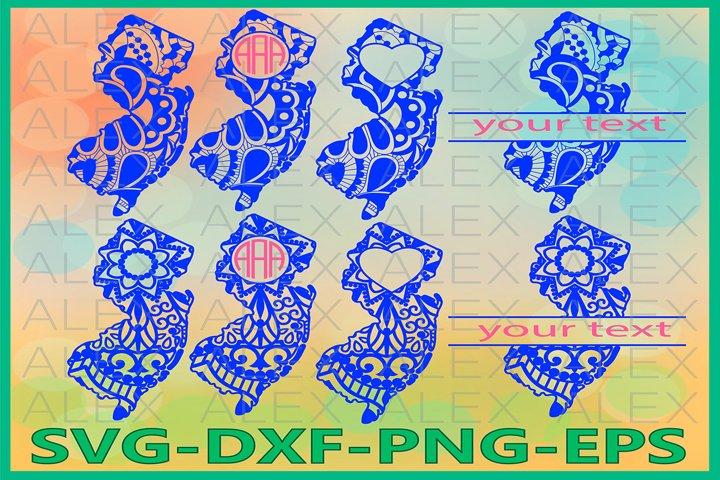 New Jersey State SVG, New Jersey Mandala SVG, New Jersey Svg