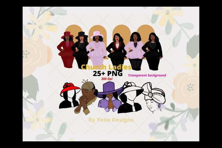 Church ladies Bundle, African American, Black women png