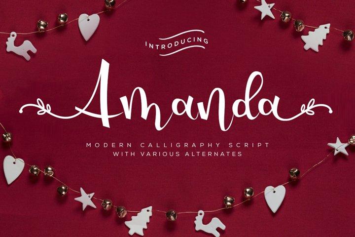 Amanda - Modern Calligraphy Script