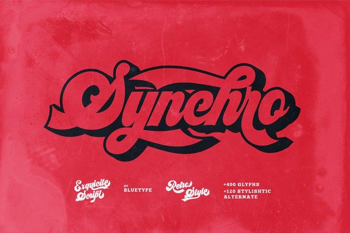 Synchro - Retro Bold Script