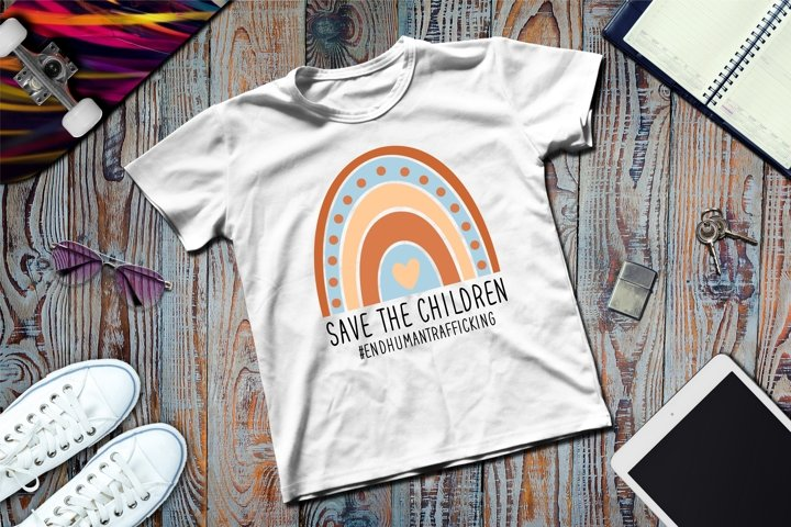 Save the Children SVG Files For Cricut Silhouette DXF, PNG
