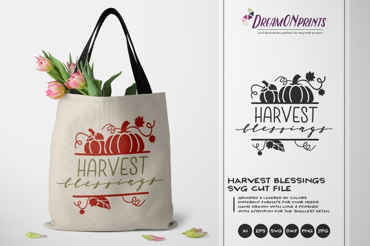Harvest Blessings SVG   Fall SVG Cut File