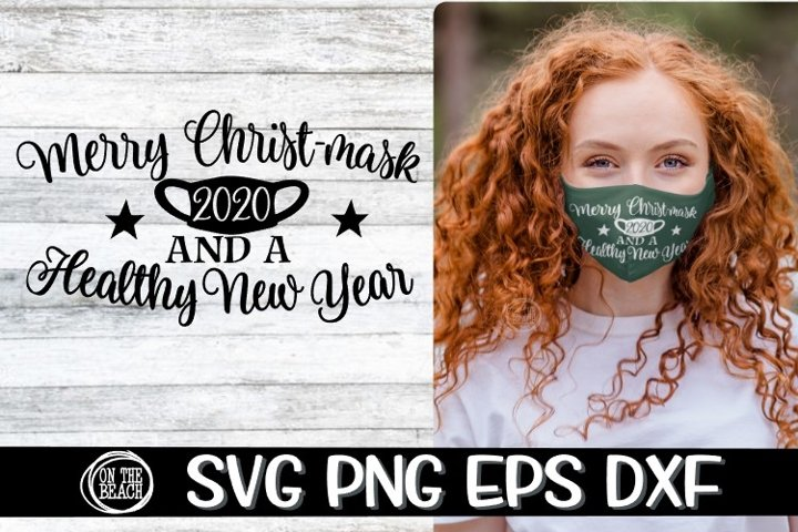 SVG -Merry Christ-MASK - Healthy New Year 2020 -SVG PNG EPS