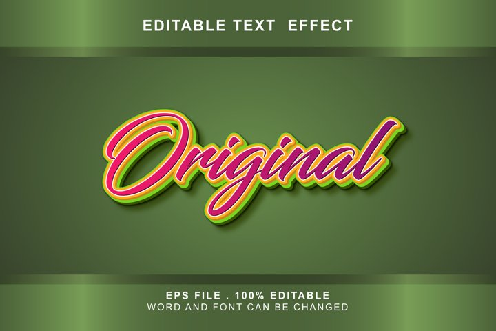 original Text Effects editable words and fonts can be replac