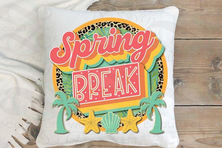 Sublimation Spring Break png Retro png Beach Ocean Love png