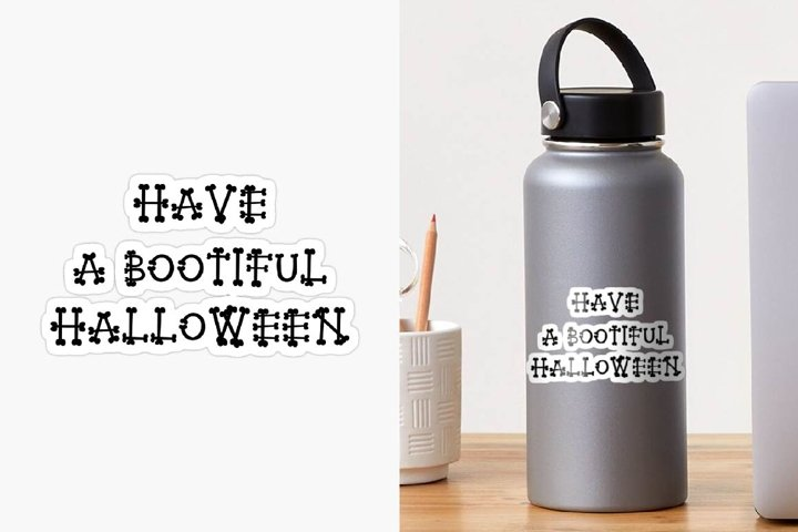 Sublimation designs HAVE A BOOTIFUL HALLOWEEN