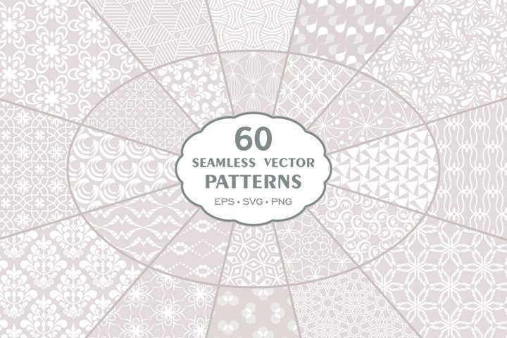 60 Seamless Vector Patterns - EPS - SVG - PNG