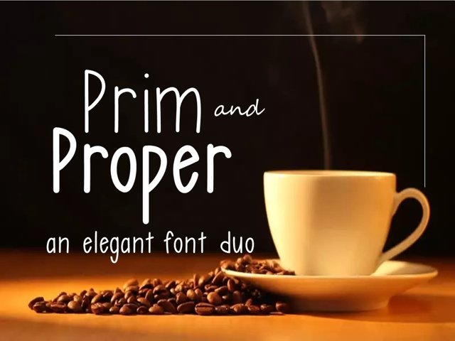 Prim and Proper Font Duo