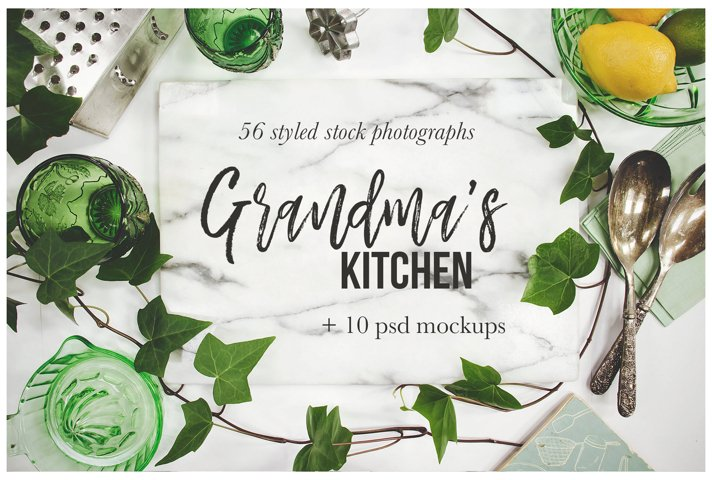 Grandmas Kitchen Stock Photography Bundle