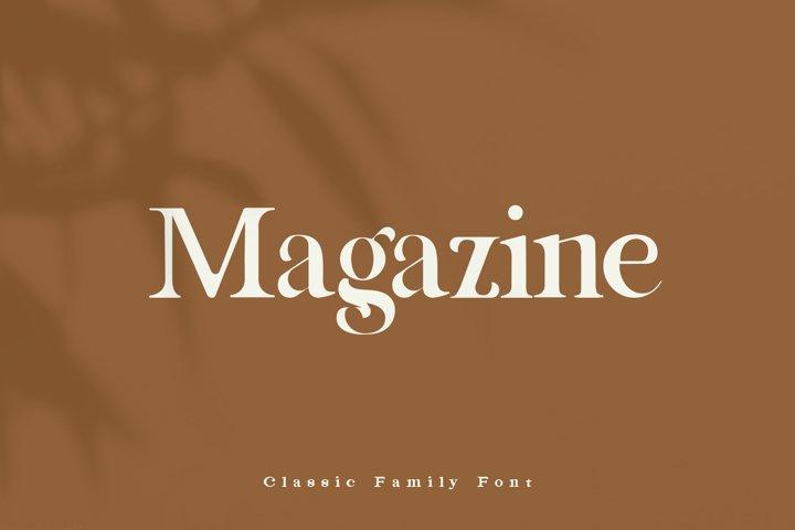 Magazine Family Font