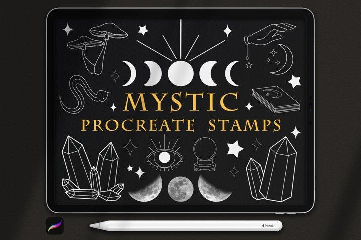 32 Mystic Procreate Stamps, Magic Procreate