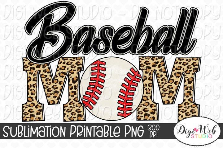 Baseball Mom Sublimation Design - Sports