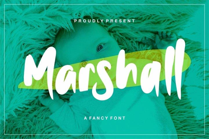 Web Font Marshall - A Fancy Font