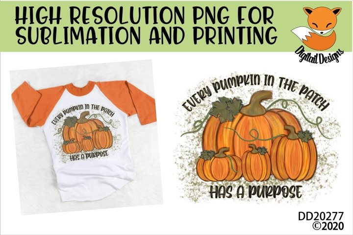 Pumpkin Patch Fall Positivity Sublimation Design
