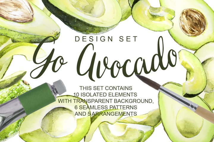 Go Avocado Design Set