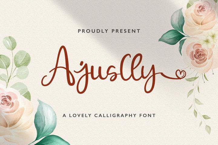Ajuslly - Modern Calligraphy Font