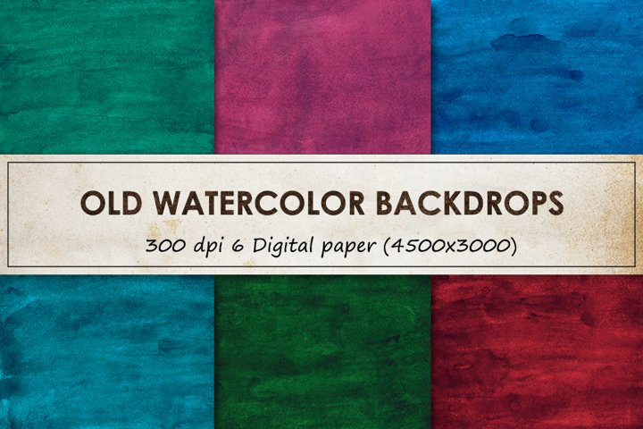 Watercolor backgrounds - Old grunge backdrops collection