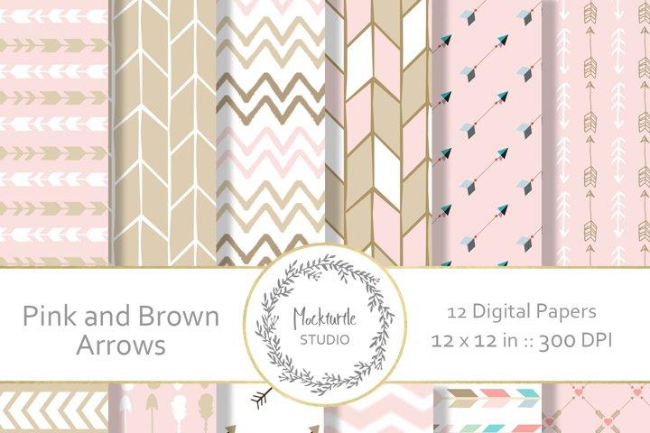 Pink Arrows digital paper