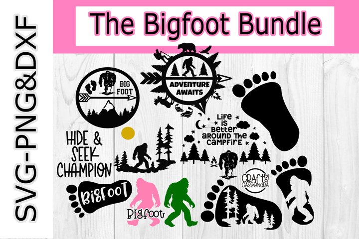Bigfoot svg Bundle - bigfoot silhouette for cricut - Sci-fi