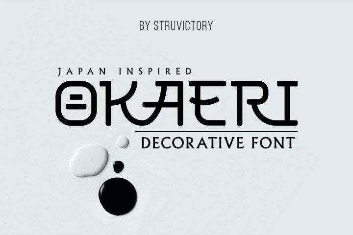OKAERI - Japan Inspired Display Font