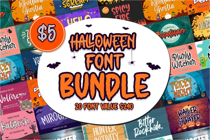 Halloween Font Bundle