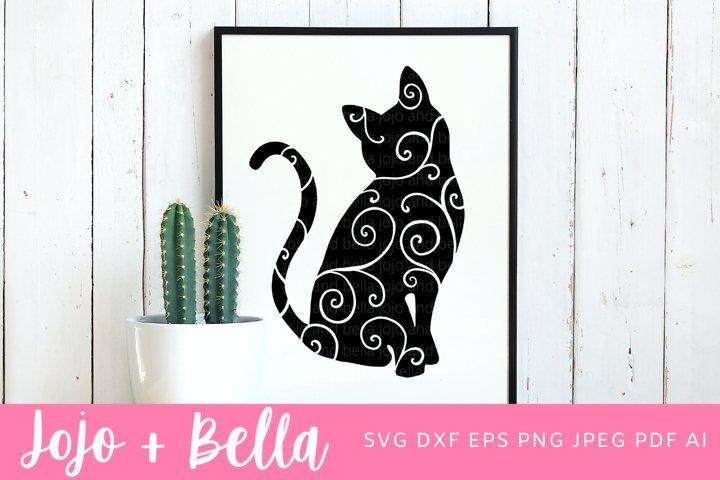 Cat SVG | Swirly Cat SVG
