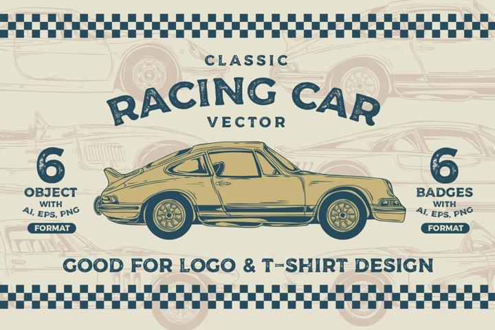 Classic Racing Car Vector