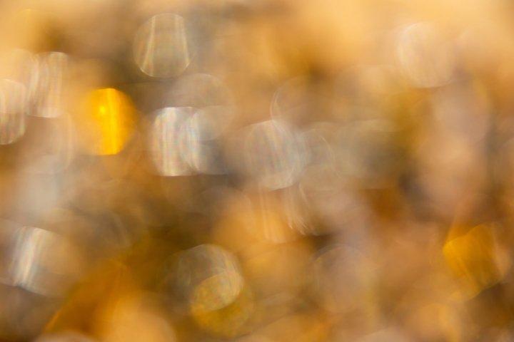 Christmas or celebration golden blurry bokeh background