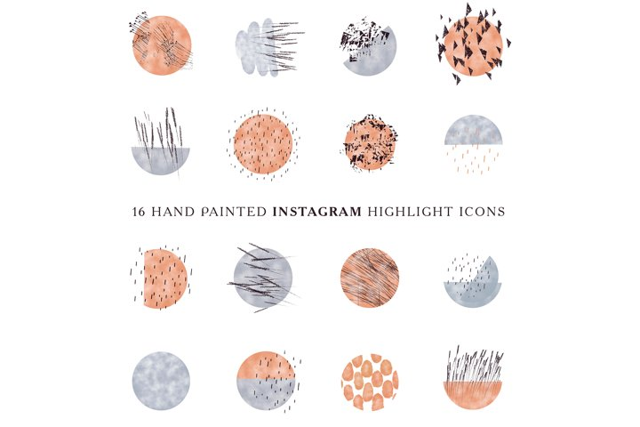Abstract Watercolor Instagram Story Highlight Icons