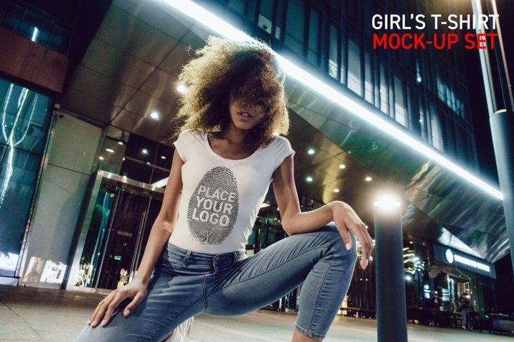 Girls T-Shirt Mock-Up Set