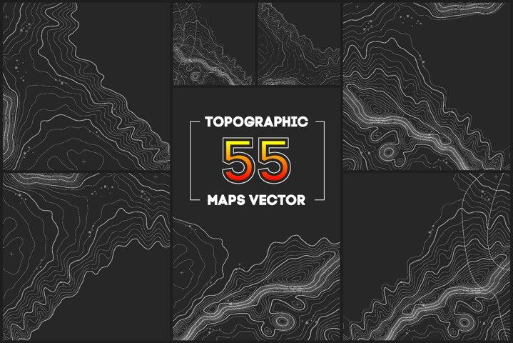 55 Topographic Maps Vector Bundle