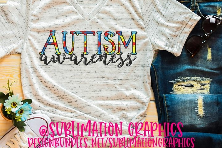Autism Awareness Sublimation PNG