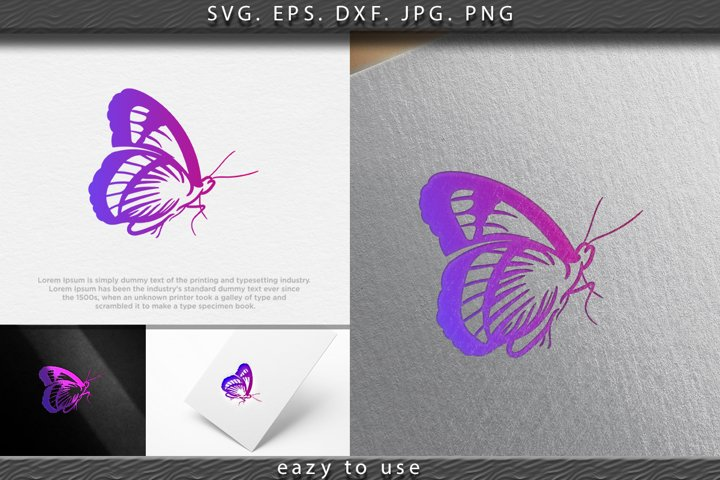 Beauty Butterfly logo Ideas. Inspiration logo design. Templa