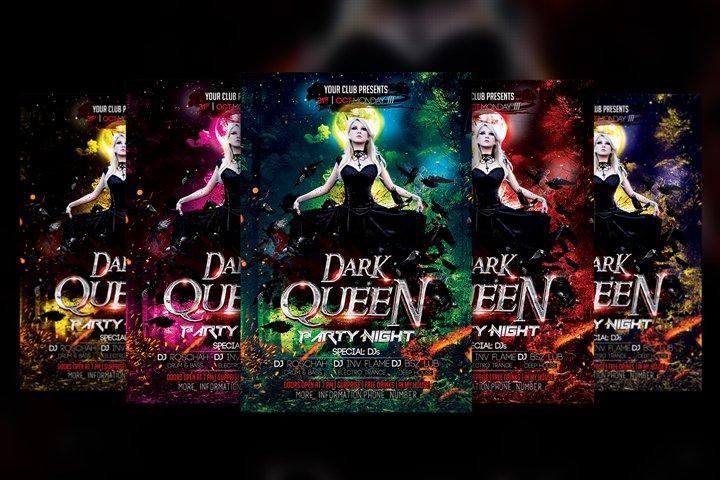 Dark Queen Halloween Flyer