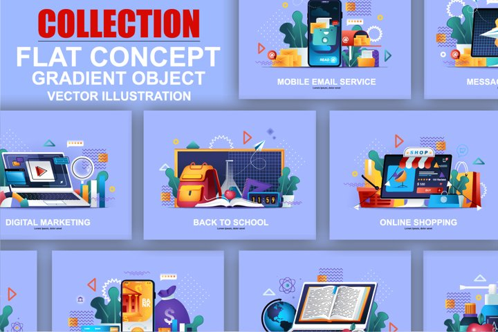 Flat Design Web Page Vector Concepts