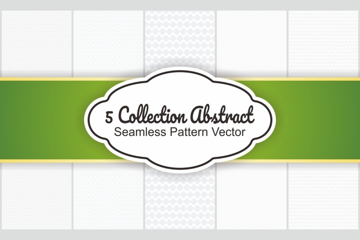 5 Collection Abstract Seamless Pattern Vector