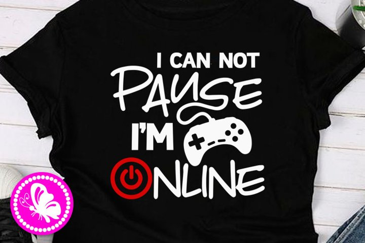 I can not pause im online svg Gamer png Playstation Xbox