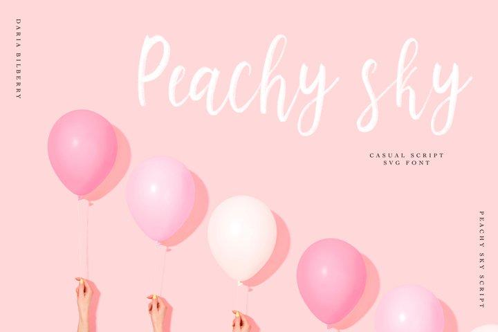 Peachy sky SVG casual script