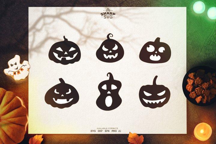 Halloween Funny Pumpkins Bundle | Halloween SVG Files