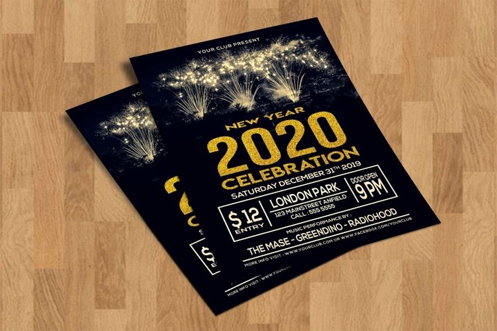 New Year Celebration Flyer Template