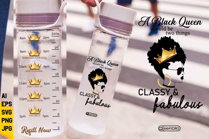 32oz Workout Sports Water Bottle Unique Timeline Design
