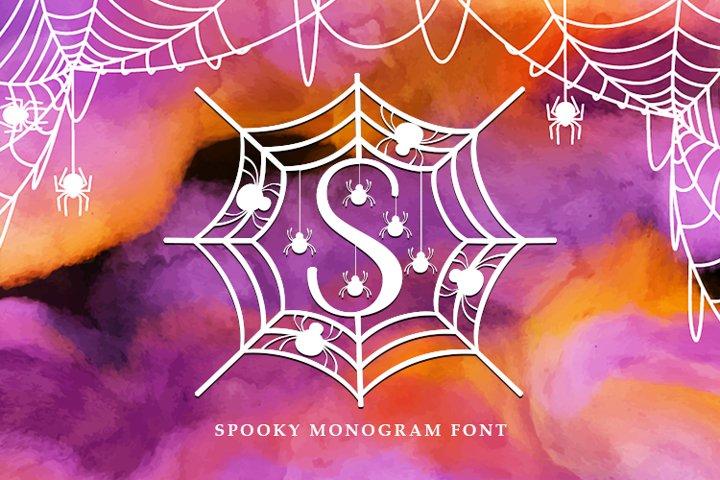 Spooky Monogram Font